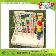 OEM & ODM niños cuentas contando juguetes educativos de madera contando juguetes cuentas de colores contando juguetes de madera