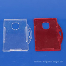 Colored plastic name card holder with customer printing logo
