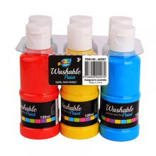 Wholesale artoys kids painting washable Paint scrubbable paint for toddlers A0207 non toxic best childrens paint