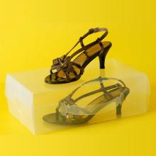 Kunststoff Transparent Schuhe Verpackung Box (klar PVC Schuhkarton)