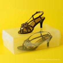 Plástico transparente zapatos de embalaje caja (caja de zapatos de PVC transparente)