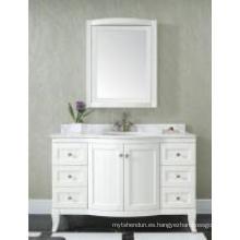 Gabinete de baño moderno reflejado gabinete principal blanco de madera uno (JN-8819717C)