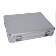Estuche portátil portátil de aluminio plateado para portátil