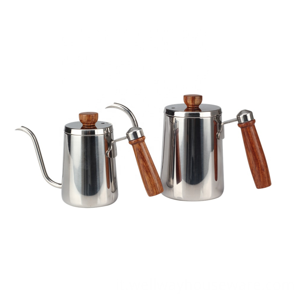 Stainless Steel Pour Over Gooseneck Kettle Metal 1