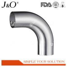 Coude de soudure à 90 degrés en acier inoxydable sanitaire avec extrémités droites