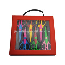 DIY 6pc CRAFT SCISSORS SET PVC BOX PLASTIC BAG CASE
