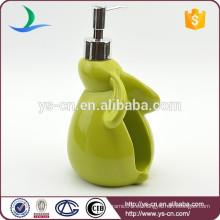 Accesorios de baño de forma de conejo de cerámica verde Botellas de loción