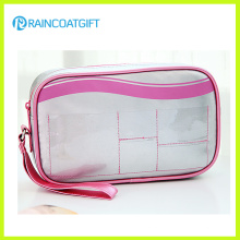 Ladies Silver PVC/PU Portable Makeup Pouch Rbc-045