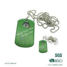 Étiquette de chien vierge en métal personnalisé en gros de haute qualité avec époxy