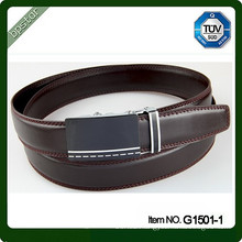 Leather Belt with Auto Buckle Coffee Belt Coffee Leather Belt