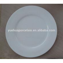 Оптовый керамический белый фарфор круглый обед плоская пластина