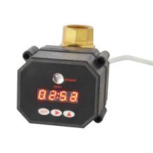 Venta caliente 1 pulgada de flujo eléctrico apagar la válvula de bola de drenaje del temporizador con CE