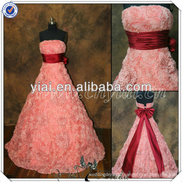 PP2708 Newest Sweetheart Flower Fabric Evening Gown Online