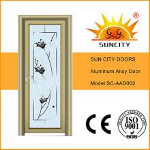 Porta de balanço de vidro de alumínio Sc-Aad002