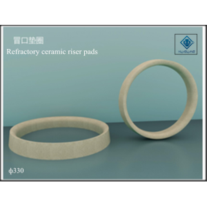 Refractory riser pads with ceramic