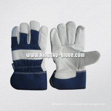 Cow Grain Tinsulate Lined Зимняя кожаная рабочая перчатка (3106)