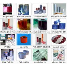 Pharma Grade Rígido transparente película de plástico transparente PVC