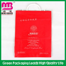 High quality pe fork ear plastic packaging bags for garment