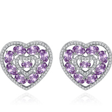 women earring cubic zircon big heart shaped earrings