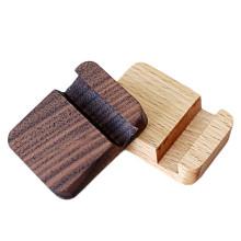 FQ marca personalizado escritorio de madera perezoso mano titular de teléfono móvil