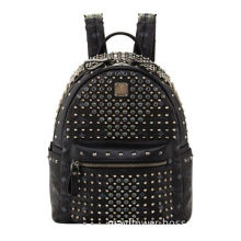 """Small Backpack, Leather Trim and Gunmetal Hardware, Measuring 10""""H x 13""""W x 7 1/2""""D"""