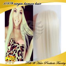 Fashinable Vigin Menschliches Haar-blondes Haar für weiße Frauen 60 #