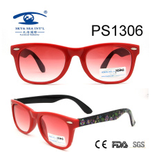Latest Custom Colorful Kid Plastic Sunglasses (PS1306)