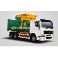 6X4 drive Dongfeng Hanging barrel garbage truck / sealed garbage truck /compressor garbage truck / compact garbage truck