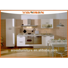 Gabinete de cozinha mfc flat pack barato para uso do projeto
