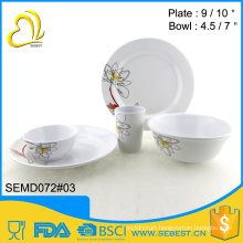 restaurant used new design 5PC melamine dinner set