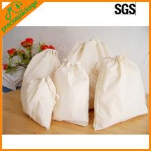 Reciclar eco natural saco de cordão de algodão