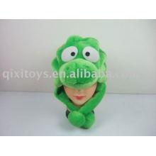 plush and stuffed dinosaur hat