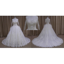 Long Sleeves Princess Full Lace Wedding Dress