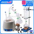 Equipamento de destilação de caminho curto pequeno JOAN, conjunto de destilação de caminho curto de 2000 ml