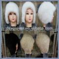 Moda Lady Mink Fur Cap Para Inverno Com Bolas