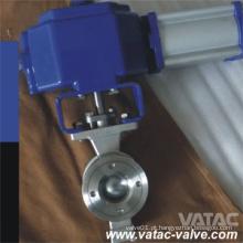 Válvula de esfera pneumática de aço inoxidável V