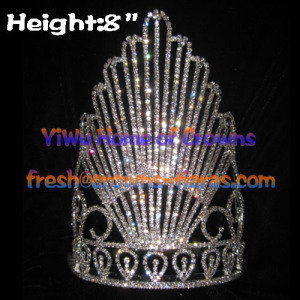 8inch Clear Crystal Queen Pageant Crowns