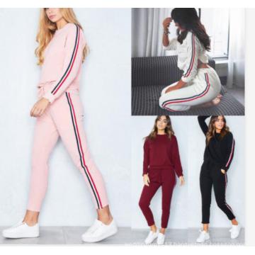 Crop Top Shirts and Pants Set Bodycon Jumpsuit