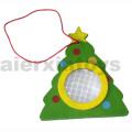 Hölzerne Kaleidoskop mit Weihnachtsbaum (81399)