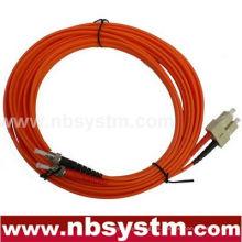 Cable de fibra óptica, ST-SC, multimodo, dúplex (tipo 50/125)