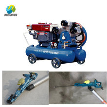 2.85m3/min diesel mobile mining piston air compressor