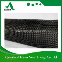 Pet20-20 ~ Pet600-600 Geogrid de poliéster de baixa velocidade com revestimento de asfalto / PVC