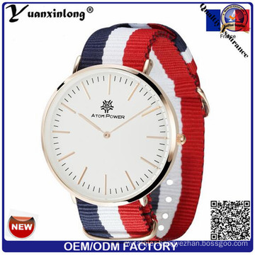 Yxl-492 Fashion Unisex Military Style Nylon Nato Strap Watch Quartz Wrist Watch Simple Design Men Women Watches
