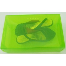 Colorful printing simple type frosted plastic clear shoe box