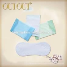 Almohadillas sanitarias de algodón de uso diario de 155 mm
