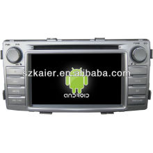 Android System car dvd player for Toyota Hilux with GPS,Bluetooth,3G,ipod,Games,Dual Zone,Steering Wheel Control