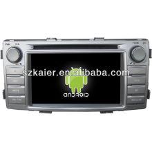 Reprodutor de DVD do carro do sistema de Android para Toyota Hilux com GPS, Bluetooth, 3G, iPod, jogos, zona dupla, controle de volante