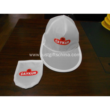 Promotional Foldable Polyester Caps W/ Pouch