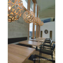 Indoor Decorative Ball Wooden Pendant Lamps
