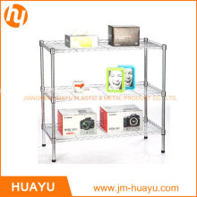 Powder Coated /Chrome 3 Tier Homeware Steel Wire Shelving Storage Rack